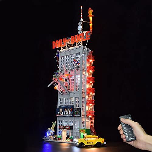 YOU339 Kit de iluminación LED compatible con LEGO 76178 Daily Bugle, con USB, kit de iluminación LED de bloque de construcción modificado, versión de mando a distancia (solo incluye la luz).