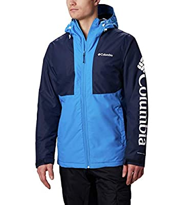 Columbia Men's Timberturner Jacket, Azure Blue, Collegiate Navy, XX-Large