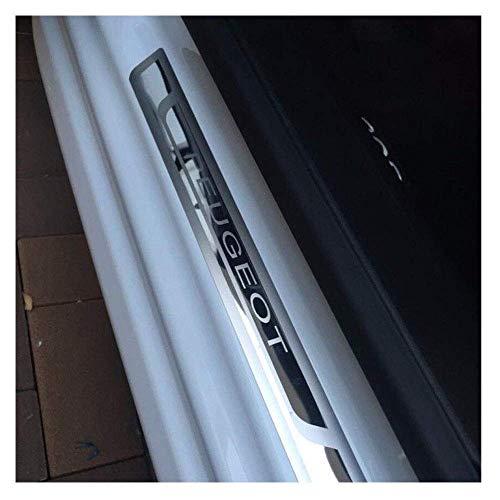 NA Etiqueta engomada del Protector del umbral de la Puerta del Coche para Peugeot 308 208 508 207 3008 2008 307, Accesorios del umbral de la Placa de Desgaste del umbral Exterior de la Puerta