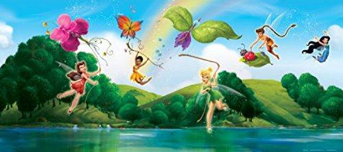 1art1 Disney Fairies - Tinkerbell, Klara, Vidia Und Feen, Farbenfrohe Schmetterlinge Fototapete Poster-Tapete 202 x 90 cm
