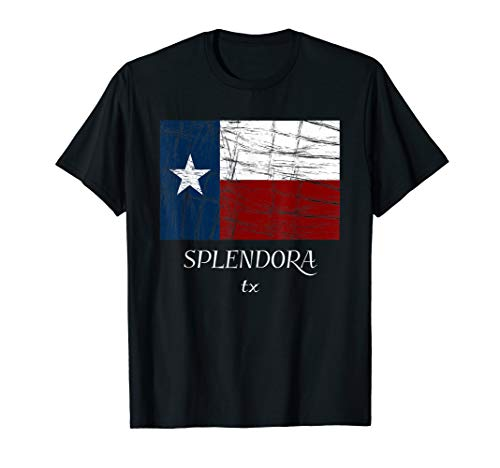 SPLENDORA TX - TShirt | Texas Flag - City State Gift
