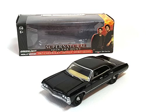 CHEVROLET IMPALA SPORT SEDAN SCHWARZ SUPERNATURAL 1967 MODLLAUTO GREENLIGHT 1:64