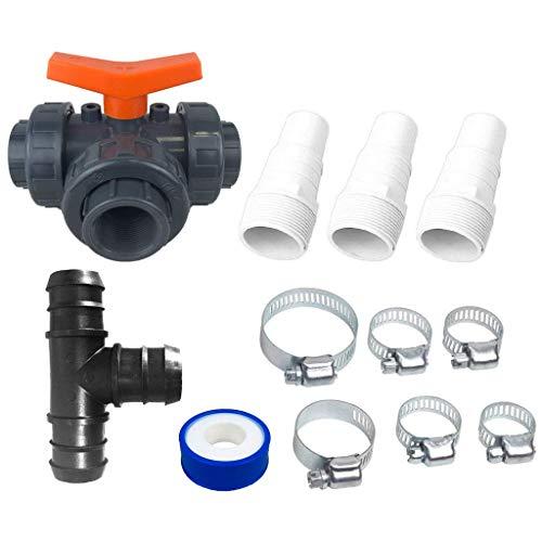 well2wellness® Hochwertiges PVC Bypass Set 12-teilig für Pool Solarheizung, Poolheizung und Wärmepumpe