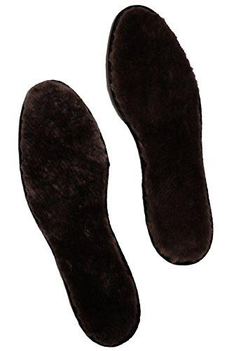 Förster-Fellnest Braune Einlegesohle aus echtem Lammfell - hoch atmungsaktiv