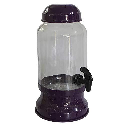Barrica Suqueira de Vidro 3,2 Lt para Bebidas em Geral - Roxo Pigmentado