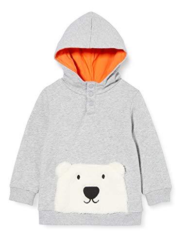 ZIPPY Baby-Jungen ZTB0203_470_10 Polo-Pullover, Light Grey Melange, 6/9M
