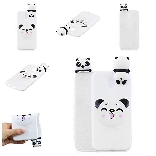 CrazyLemon Hülle für Samsung Galaxy J330 EU Version, 3D Niedlich Modisch Lächelnd Panda Muster mit Stehen Puppe Weich TPU Silikon Handyhülle Voller Schutz Stoßfest für Galaxy J330 - Pattern 10