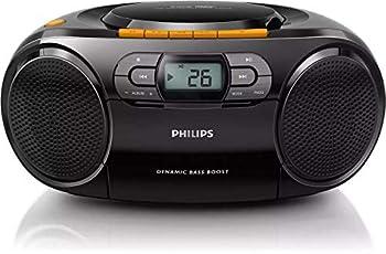 PHILIPS Stereo CD Cassette Player Portable Boombox USB FM MP3 Tape AZ328