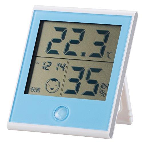 時計付き 温湿度計 TEM-200