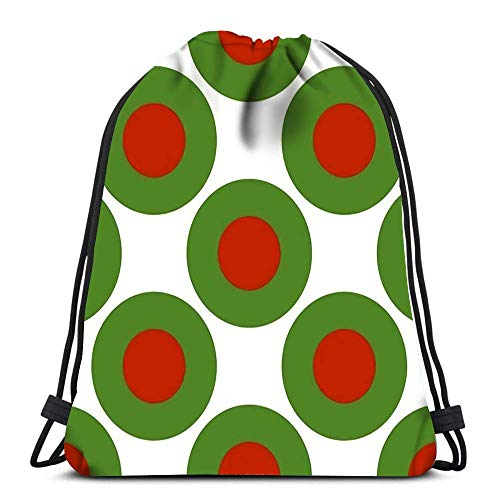 Unisex Drawstring Backpack,Bulgarische Flagge Design-Konzept Geometrische Kreise Von Farben Aus Deutschland Gemalt Sport Tunnelzug Gymsack Stilvoll Rucksack Beutel Tasche Bequem Kordelzug Rucksack