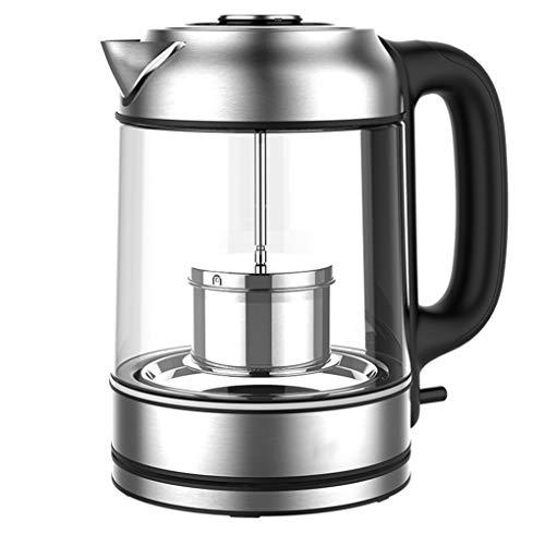 Gjfhome elektrische waterketel, BPA-vrij, auto-off & droogloopbeveiliging, 1,7 l, 1850 W, glazen waterkoker voor het bereiden van babyvoeding thee