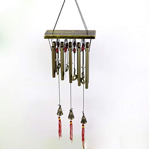 ADpossible Carillons de Vent en Plein air avec 10 Pipes, carillons en Aluminium de Vent de Style Chinois pour la Maison de Jardin