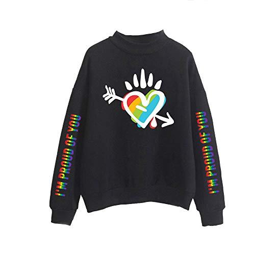 LGBT Sweatshirt met Hoge Hals Unisex Pullover Lange Mouwen Coltrui Herfst Winter Hoodies Sweater Tops Top Blouse Uitloper Casual