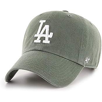 '47 Los Angeles LA Dodgers Clean Up Adjustable Hat - Moss Green/White, Unisex, Adult - MLB Baseball Cap