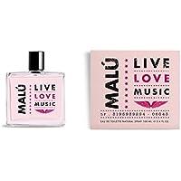 Malú - Love Live Music, Agua de tocador para mujeres, 100 ml