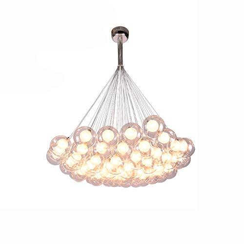 Lámpara colgante luz colgante LED candelabro de bola de burbujas de vidrio blanco sala de estar creativa para niños comedor dormitorio tienda de ropa candelabro de escalera luz de te
