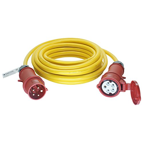 ENECEN 1131505 CEE-Verlängerungskabel 400V/32A IP44 PVC K35 AT-N07V3V3-F 5x4 mm² gelb mit ST/KU 5-polig 5m