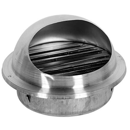 JSONA Tapa de Campana de Chimenea, Campana de ventilación con Forma de Toro, Acero Inoxidable 304, Rejillas de ventilación de Aire para Montar en la Pared, Cubierta de Extractor de Parrilla, T