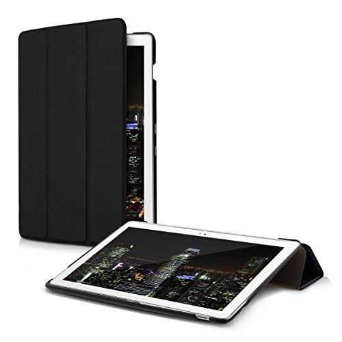 kwmobile Hülle kompatibel mit Asus ZenPad 10 (Z300) - Smart Cover Tablet Hülle Schutzhülle - Stand - in Schwarz