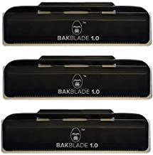 baKblade 1.0 Back Hair and Body Shaver Refill Replacement Cartridges. 4 Inch Extra-Wide Wet or Dry Disposable Razor Blades (3 Razors Included)