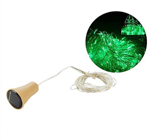 Botella de Vino con energía Solar Festival de Corcho Luces de Guirnalda de Luces para Exteriores Luz de Hadas para Exteriores Cadena de Alambre de Cobre LED en Forma de 1M / 2M - GN, 2m 20 LED