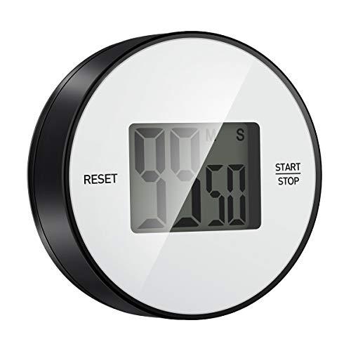 Temporizador de cocina digital de 99 minutos, con anillo de alarma fuerte, ideal para cocina, yoga, niños y profesores, color negro