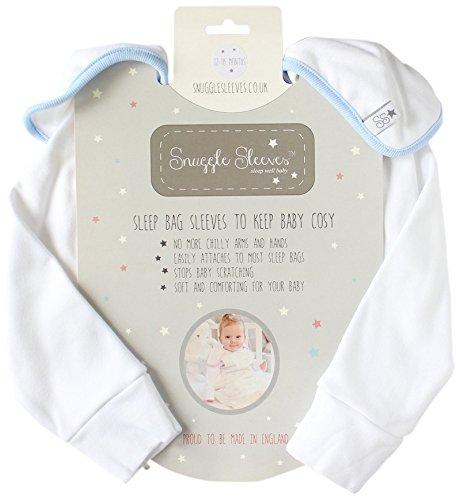 Snuggle manches Sacs de couchage (3–6 mois, Bleu)