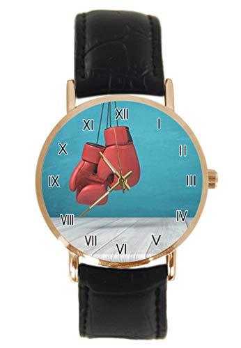 Lustige rote Boxhandschuhe Armbanduhr...