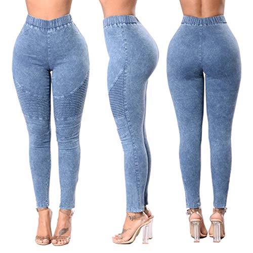 La moda Europea y Americana de las Mujeres Boutique de Cintura alta Elástica de la Cadera Jeans Wrink Lápiz Pantalones Skinny Jeans 2020 Mujeres