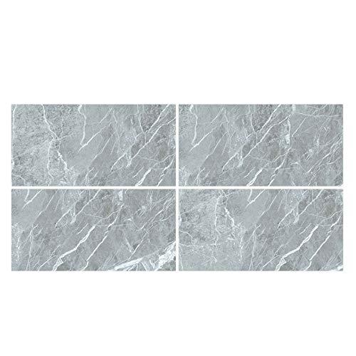 Xuebai 4 Pezzi Adesivi per Piastrelle in Marmo di Cristallo Adesivi murali in PVC per Pavimento a Terra
