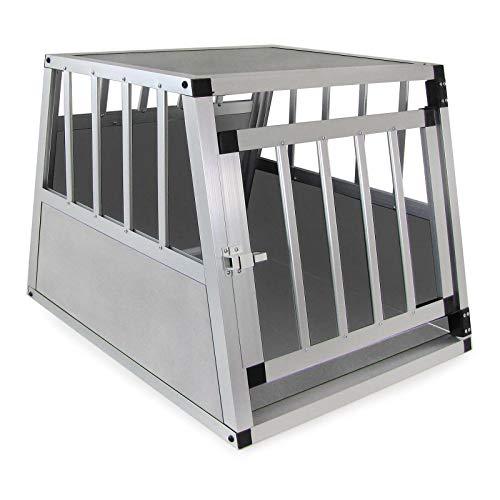 RAMROXX 37927 Alu Hunde Tier Reise Auto Transport Box Grau mit Tür