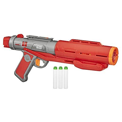 Nerf Star Wars Imperial Death Trooper Deluxe Dart Blaster, The Mandalorian, Blaster Sounds, Efectos de luz, 3 Dardos Nerf Que Brillan en la Oscuridad
