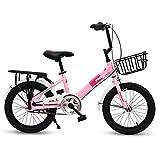 Kids'Bikes Lijianfeng Bici per Bambini da 16 Pollici Auto Scuola primaria e secondaria 6-8-9-10-12 Anni Maschi e Femmine Bambini Bicicletta Sport Bambini Bicicletta Dare ai Bambini Il miglior Regalo
