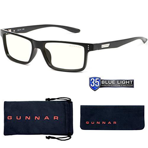 GUNNAR - Gaming and Computer Glasses - Blocks 35% Blue Light - Vertex, Onyx, Clear Tint