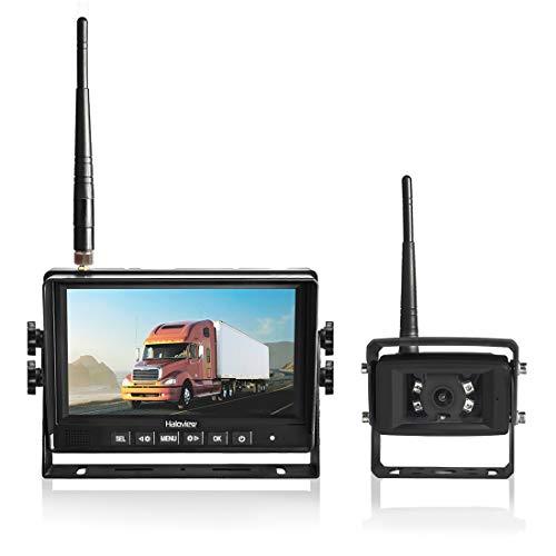Haloview Drahtloses digitales HD720P-Rückfahrkamerasystem mit 7-Zoll-Monitor und Rückfahrkamera für Van / Trailer / Truck / Travel Trailer-MC7108