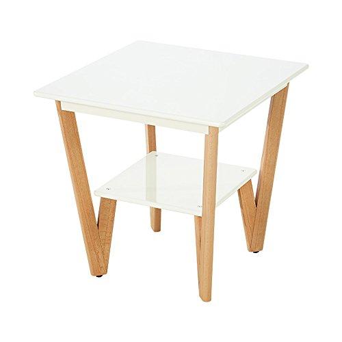 MEIDUO Étagères Table d'appoint avec petites tables latérales en bois de salon de stockage pour de petits espaces L58 * W58 * H58CM très durable