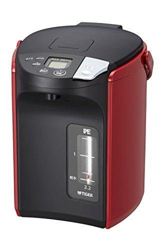 タイガー魔法瓶(TIGER) 電気ポット 蒸気レスVE電気 まほうびん とく子さん 2.2L レッド PIP-A220-R