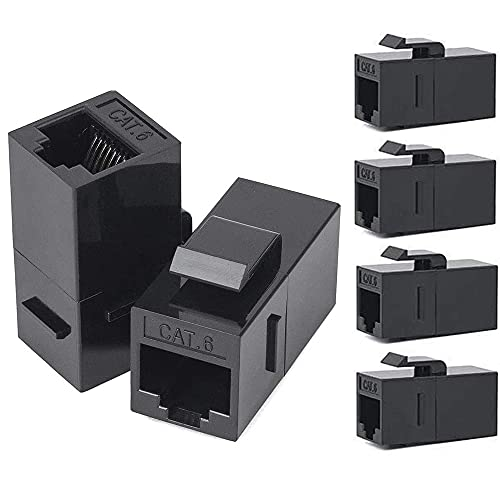 Greluma 6 Pcs accoppiatore RJ45 Cat6, accoppiatore Ethernet, jack Keystone RJ45 Cat6, femmina a femmina
