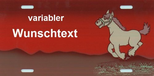 Pferde Schild mit Namen und Text selbst gestalten und bedrucken lassen Artikel und Zubehör