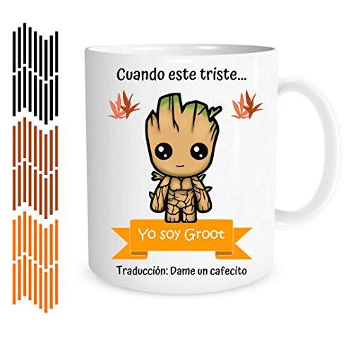 MOL3D - Taza con frase y dibujo. Regalo Original 'Yo Soy Groot' - 350 ml