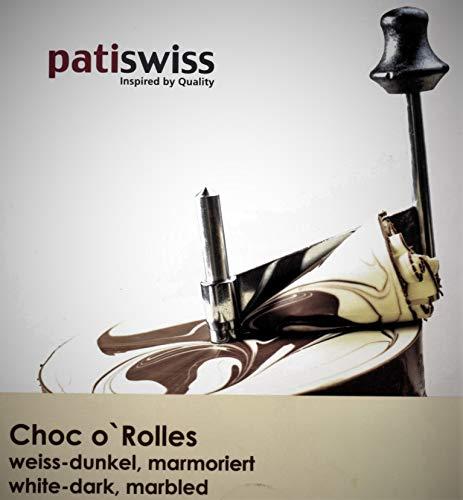 patiswiss Original Choc o` Rolles Schweizer Schokolade WEISS-DUNKEL, 500g