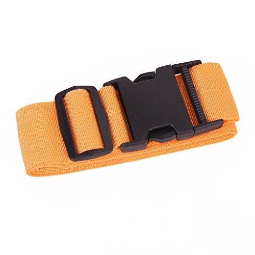 Ma-on Valise Sangle de sécurité bagages Emballage Ceinture (Orange clair)