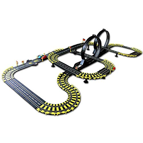 LINGLING Track Racing Toy Slot Car Vehicle Race Sets Control Remoto eléctrico Niño Niño 3 años Juego Interactivo Entre Padres e Hijos Juguetes educativos para niños y niñas