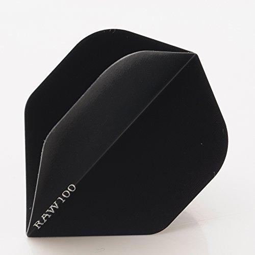 5 x SETS RAW100 EXTRA TOUGH schwarz DART FLIGHTS STANDARD SHAPE 100 MICRON STRONG