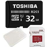 東芝 Toshiba microSDHC 32GB + SD アダプター + 保管用クリアケース [バルク品] [並行輸入品]