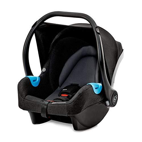 Kinderkraft Babyschale MINK, Babytrage, Kindersitz, Autositz, Kinderautositz, Gruppe 0+ 0-13kg, von Geburt, Wippe, für jüngste Kinder, ECE R44/04, Schwarz