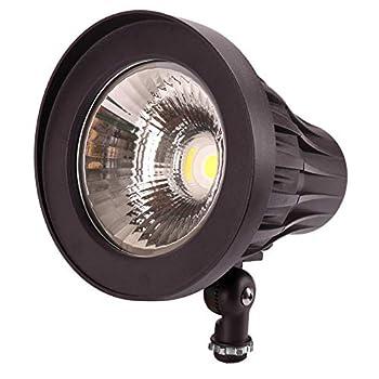 GKOLED 30Watt Bullet LED Spotlight Narrow Beam Angle COB LED Round Spotlight 5000K Daylight White 3350 Lumens 120-277V Outdoor Flag Pole Spotlight Fixture UL Listed & DLC Qualified