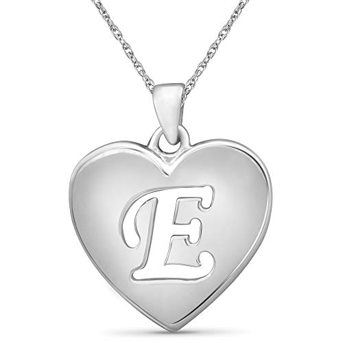 JEWELEXCESS Initial Letter Pendant Necklace for Women | Customizable Sterling Silver A to Z Alphabet Monogram Necklaces for Girls | Cursive Script Capital Letters | Personalized Jewelry Gift for Her
