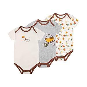 Froerley Body Bebe Niño, Ropa Bebe Niños Recién Nacido 3-6 Meses Verano, Bodies Bebe Manga Cortas, Algodón, Bebes Regalos