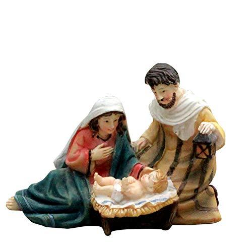 Conjunto de historia de decoracin de natividad  Estilo esculpido que pone en vedette, Mary Hold Beb Jess, regalo de decoracin de la casa, artesana, en resina